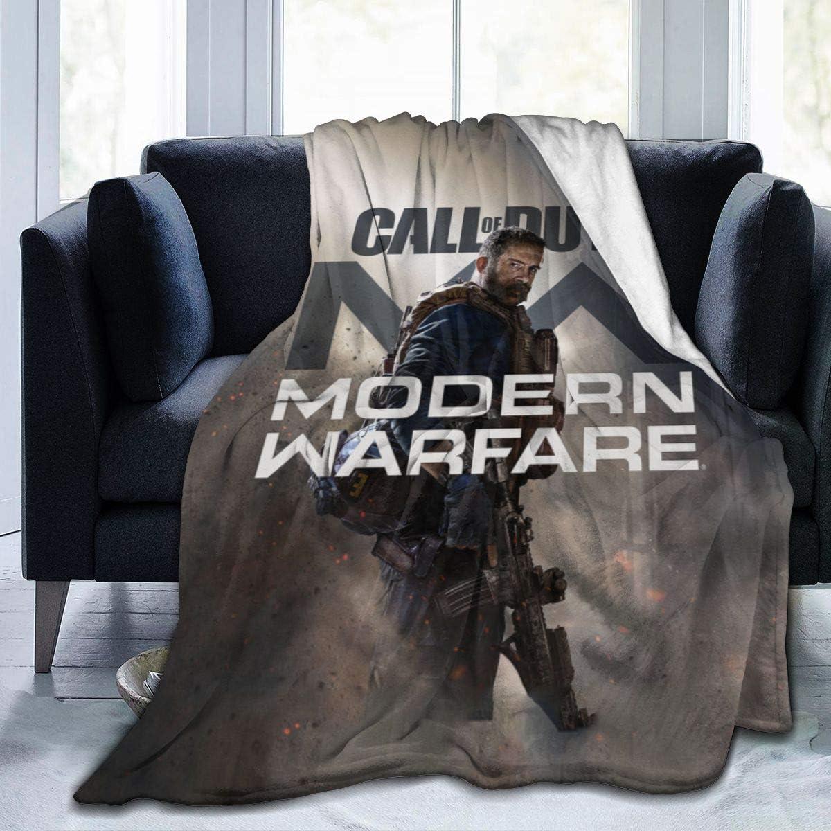12. Call-of-Duty Modern-Warfare Warm 3D Printed Throw Blanket