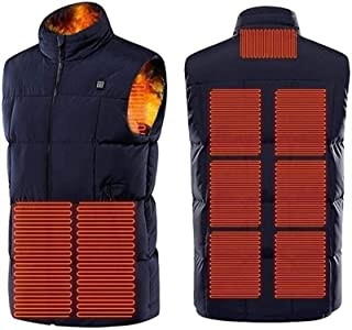 Heated Vest, USB Electric Heated Jacket Heated Vest Jacket with Three Temperature for Outdoor Hiking Motorcycle Cold Weath...