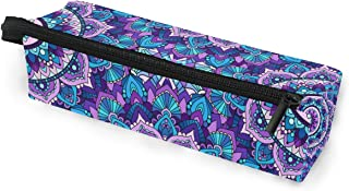 Toprint Ethnic Mandala Floral Flower Glasses Bag Pouch Portable Travel Zipper Light Sunglasses Case Pencil Case Cosmetic Bag