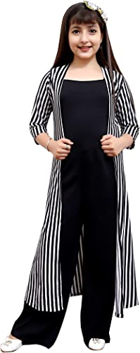 Jumpsuit for Kids Girls with Shrug Striped