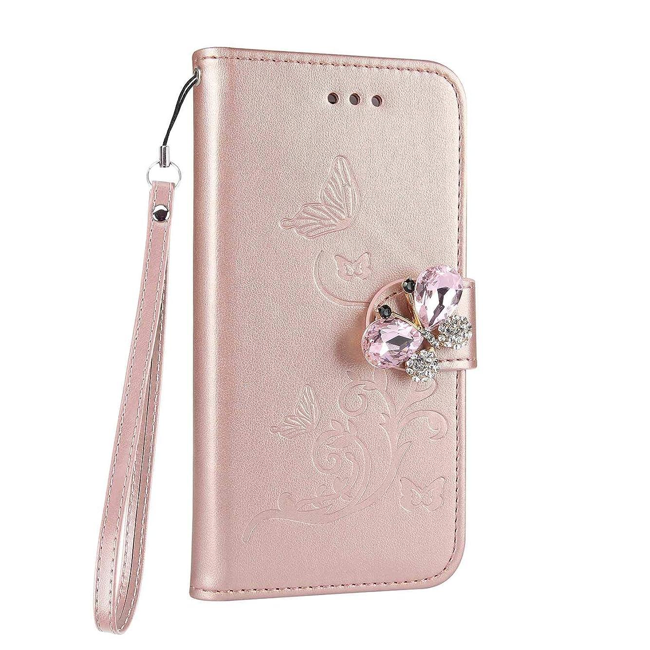 流行噂時間Galaxy S8 ケース手帳型 高級感 薄型 PUレザー クリスタル ダイヤモンド 磁気バックル 落下防止 衝撃吸収 財布型 ケース