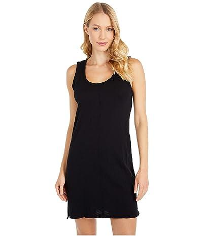 bobi Los Angeles Tank Dress in Slubbed Jersey (Black) Women