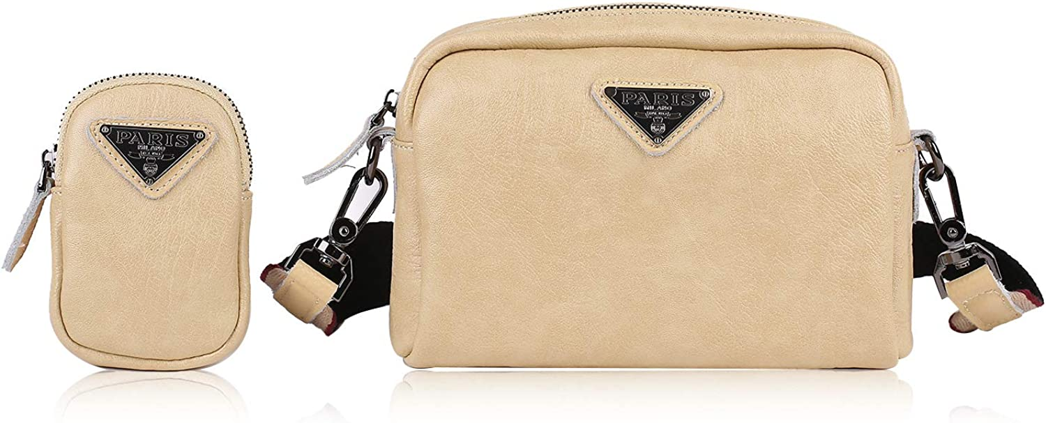 Women Handbags Wide Shoulder Strap Leather Ladies Shoulder Bags Female Fashion Crossbody Bags Comes with coin purse