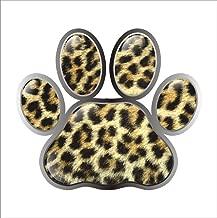 4 in 1 Leopard Print Stick-on Car Door Trim Guard Bumper Sticker Brown