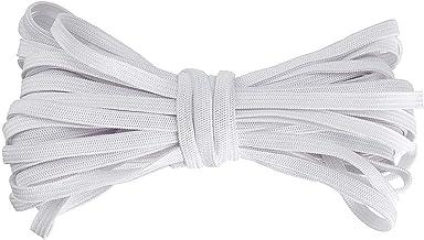 5 mm plat elastisch koord, voor naaimasker elastische band, wit elastisch koord, DIY zacht gevlochten naaien elastische to...