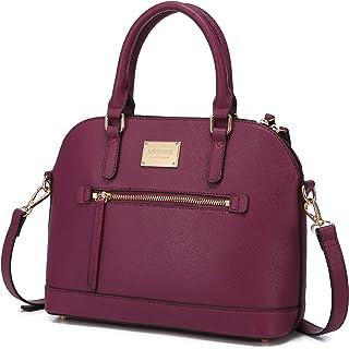 Kleine Crossbody-Taschen für Frauen, klassische Doppelreißverschluss oben Griff Kuppeltasche Schultertasche
