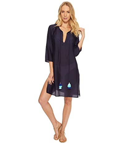 Echo Design Solid Tunic Cover-Up (Navy) Women