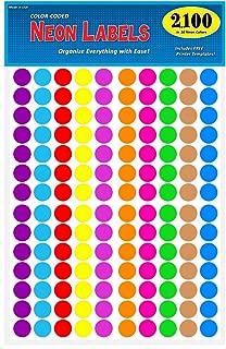 round color coding labels