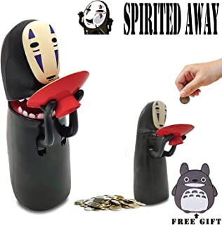 Kijea Spirited Away No Face Man Coin Bank Auto Eat Coin Piggy Bank, Kawaii Piggy Kids/Girls/Boys, Birthday Gifts