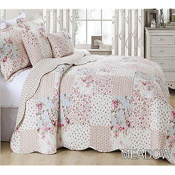 Juego de cama, incluye 3 piezas, una colcha y 2 fundas de almohada ...