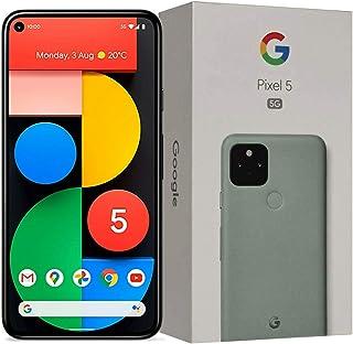 Google Pixel 5 5G (2020) GTT9Q 128GB Factory Unlocked Smartphone (Just Black) - International Version (Sorta Sage)