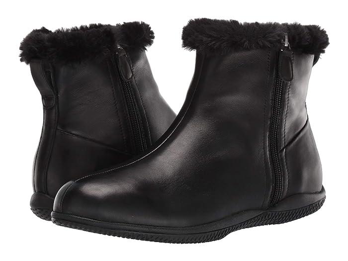 1950s Style Shoes | Heels, Flats, Saddle Shoes SoftWalk Helena Black Leather Womens Boots $139.95 AT vintagedancer.com