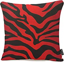 red and black zebra print