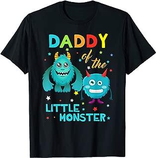 Daddy Of The Little Monster Birthday Family Monster Shirt