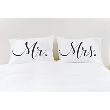 Mr Mrs Pillowcases Couples Pillow Cases Pillows Gift for Couple Bridal Shower Gift for Newlyweds