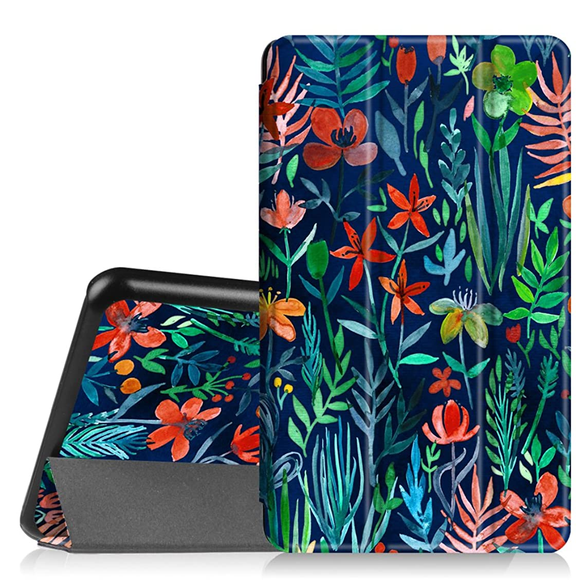 Fintie Slim Shell Case for Samsung Galaxy Tab A 7.0 - Ultra Lightweight Protective Stand Cover for Samsung Galaxy Tab A 7-inch Tablet 2016 Release (SM-T280/SM-T285), Jungle Night