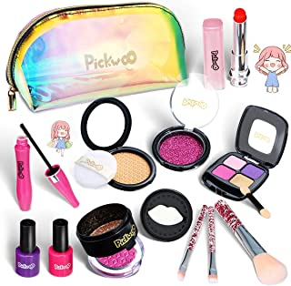 Pickwoo Kids Makeup Kit for Girl Pretend Play Girls Makeup Non-Toxic Play Makeup for Little Girls with Fashion Kids Makeup...