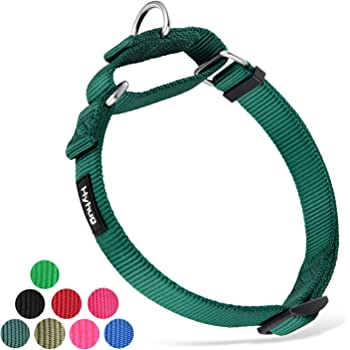 Hyhug Pets Premium Upgraded Heavy Duty Nylon Anti-Escape Martingale Collar for Boy and Girl Dogs Comfy and Safe - Professional Training, Daily Use Walking.