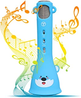 TOSING Wireless Karaoke Microphone for Kids, 2019 Top Birthday Gifts for Girls Boys, Best Present Toys for Kids Girls 4 5 6 7 8 9 Years Old & 10 11 12 Yrs Teenager, Bluetooth Child Karaoke Machine
