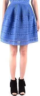 Pinko Luxury Fashion Womens MCBI37485 Light Blue Skirt | Season Outlet