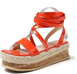 JSUN7 Women's Fashion Mid Platform Dress Sandal Shoe