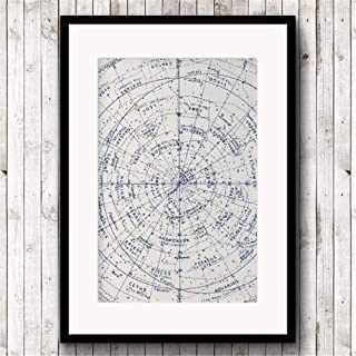 Danjiao Astrología Imprimir Antiguo Mapa Estelar Mapa De Astronomía Vintage O Signo Del Hemisferio Norte Pintura Constelación Estrellas Zodiaco Cartel Sala De Estar Decor 60x90cm
