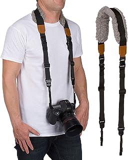 Movo MP-SS8 DSLR Camera Strap – Quick Release Sheepskin Neck Sling Shoulder Harness, Wrist Strap for Binoculars and Cameras
