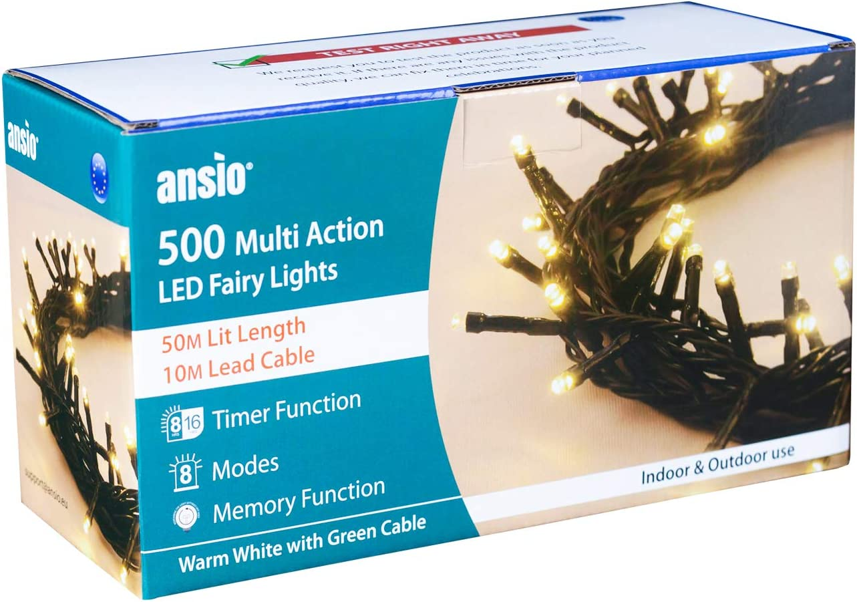 Gr/ünes kabel Lichterkette 300 LED 30m//98ft Weihnachtsbaum Lichtkette Innen Au/ßen F/ür Weihnachten//weihnachtsbeleuchtung//Hochzeiten//Party//Weihnachtsdekoration Warmwei/ß