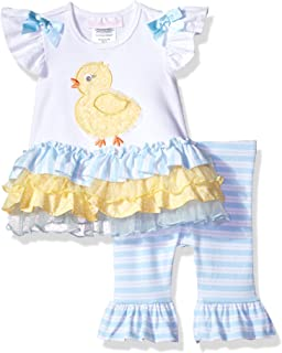 Appliqued Dress and Legging Set