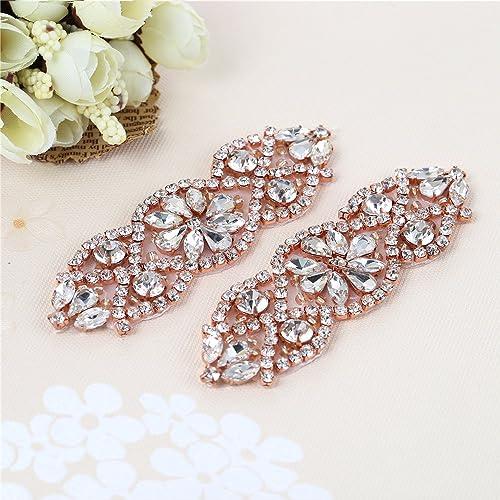 9dab777cbe51 (2pieces) Petit mur de mariage en strass avec des cristaux pour la coiffure  nuptiale