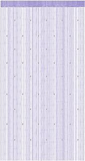 uxcell Polyester Home Door Window Bead Thread Curtain Tassel 100 x 200cm Light Purple