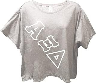 Alpha Xi Delta Sorority Gray Flowy Boxy Tee Shirt