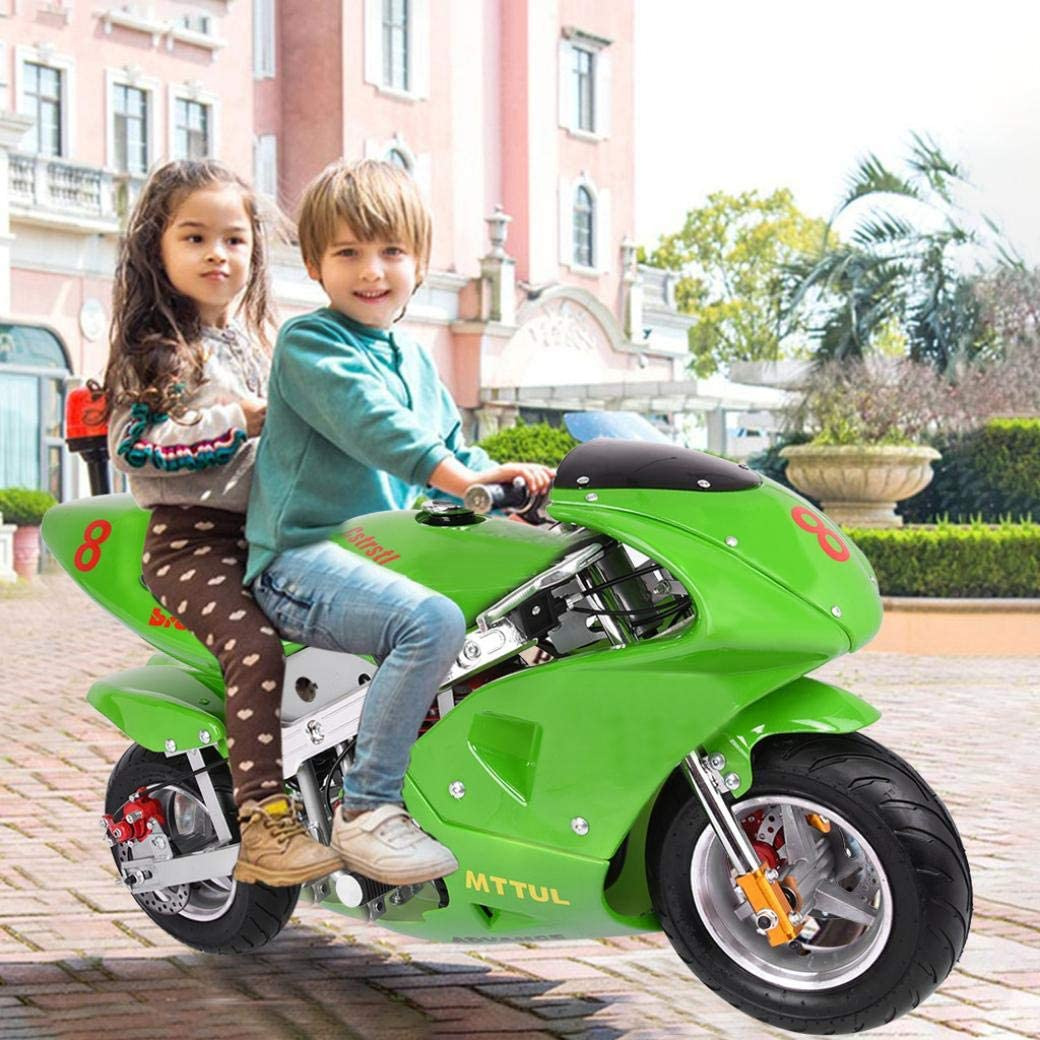 NATIVEUSO 2021 New Kids Motorcycle,Mini Gas Power Pocket Bike Motorcycle 49cc 4-Stroke Engine for Kids and Teens US