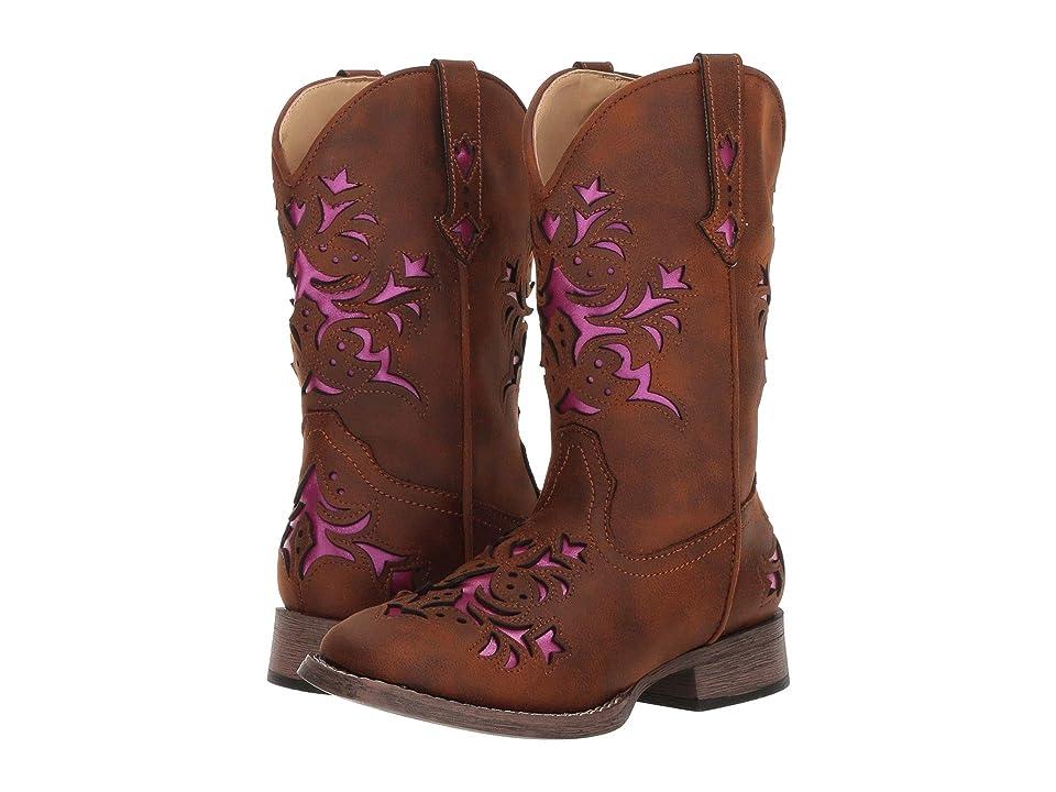 Roper Kids Lola (Toddler/Little Kid) (Vintage Brown Vamp & Shaft) Cowboy Boots