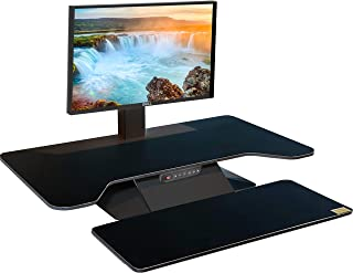 STANDESK PRO Memory + Keyboard Black, Electric with Memory Function Height Adjustable Desk Sit Stand Desk with Keyboard Tray