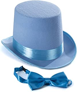 Tigerdoe Top Hat Costume - Top Hat with Bow Tie - Adult Costume Set -Costume Hats