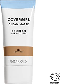 COVERGIRL Clean Matte BB Cream Medium/Deep 550 For Oily Skin, (packaging may vary) - 1 Fl Oz (1 Count)