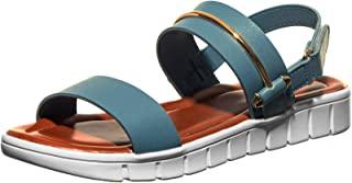 Cleo by Khadim's Women Blue Casual Platform Flat Sandal