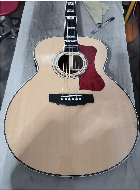 YYYSHOPP Guitarra Mejora Profesional Ebony Solid Acústica Guitarra F50 Guitarra Natural Guild Guitarra eléctrica acústica Apto para Jugadores en Todas Las etapas (Color : Guitar, Size : 43 Inches)