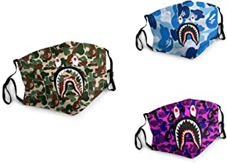 Unisex Washable Soft Scarf Warm Mouth Cover Windproof Dustproof Bandana Reusable Face Mask with 6 Filters Made in USA