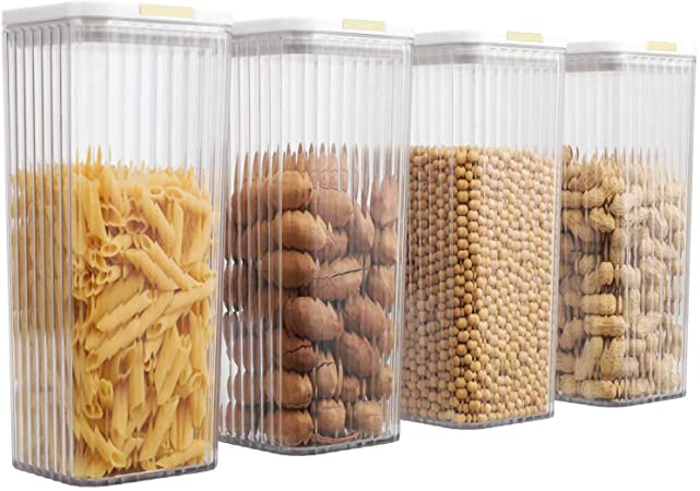 4 PC Food Storage Containers Pantry Container