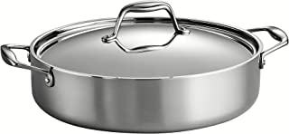 Tramontina 80116/015DS Gourmet Stainless Steel Induction-Ready Tri-Ply Clad Covered..