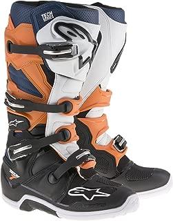 Alpinestars Men's Tech 7 Enduro Boots (Black/Orange/Blue/White, Size 11)
