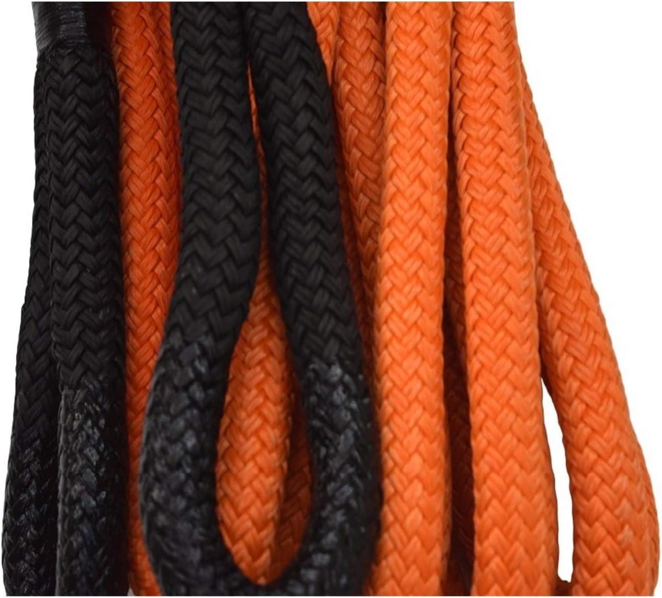 Double Nylon Tresse Corde de r/écup/ération Corde de remorquage Color : Orange C/âble de treuil Corde cin/étique for Offroad YEZIO C/âble Winch VTT//UTV Orange 1 * 20ft mm /énergie cin/étique Corde