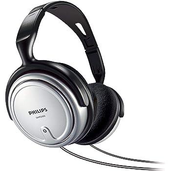 Philips SHP2500/10 HiFi TV Kopfhörer mit Kabel (Exzellenter Sound, Geräuschisolation, Idealer Sitz, Integrierte Lautstärkeregelung, Extralanges 6 m Kabel) silber/schwarz