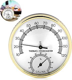 Higrómetro Termómetro Sauna,Accesorio para Sala de Sauna,Higrómetro termómetro analógico,TermóMetro para Sala de Sauna,Ter...