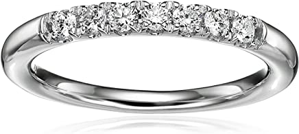 14k White Gold Diamond 7-Stone Shared Prong Anniversary Ring (1/4cttw, H-I Color, I1-I2 Clarity)
