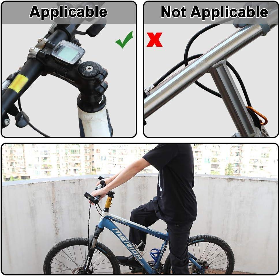 AMYIPO Bicycle Fork Stem Extender Bike Handlebar Neck Extender Aluminium Alloy Stem Riser 1-1//8 28.6mm Fork Aluminum Black