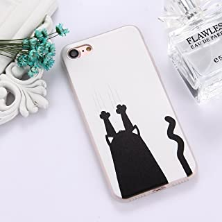 QFH For iPhone 8 & 7 TPU Frosted Embossed Tulip Girl Pattern Protective Case Back Cover new style phone case (Color : Color10)
