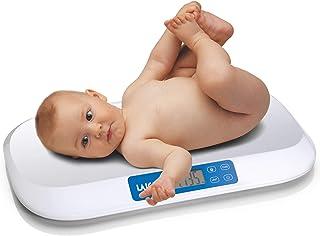 Laica LA288 Báscula de baño pesa-bebés electrónica bluetooth, Blanco